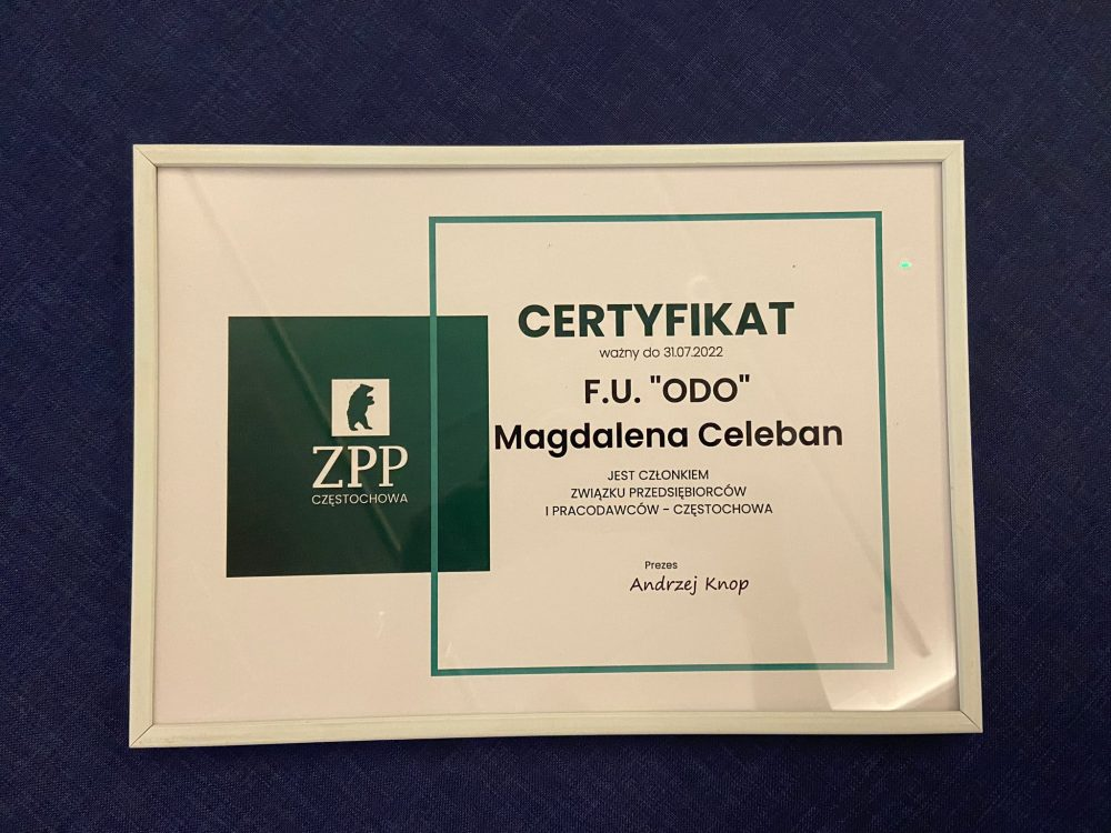 Certyfikat ZPP